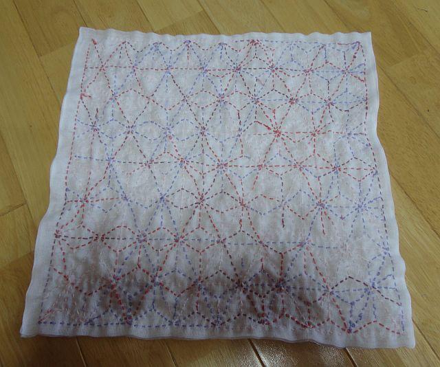 花布巾(麻の葉)