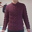 息子のアラン模様のセーター