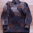 ハイネック 変わり編みのセーター