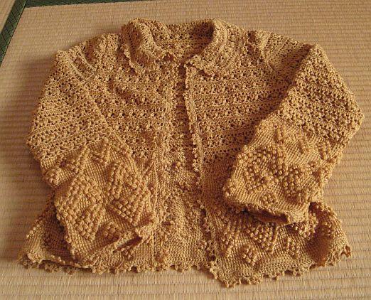 アフガン編みと鉤針編みのカーディ 6