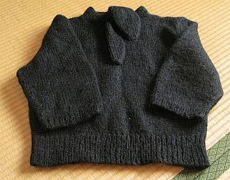タイつき七部袖セーター 1