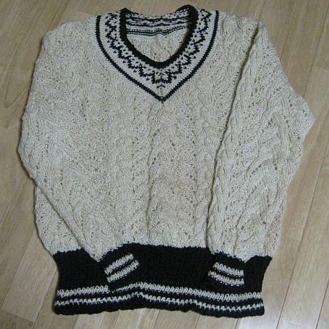 Vネックのサマーセーター3