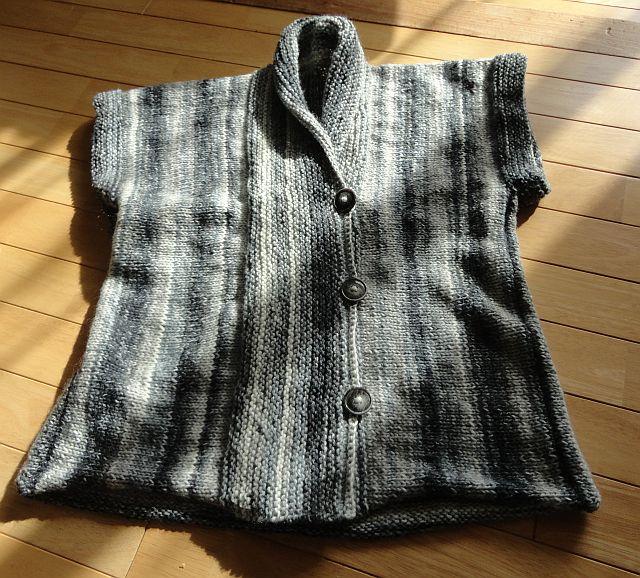 ガーター編みのベスト