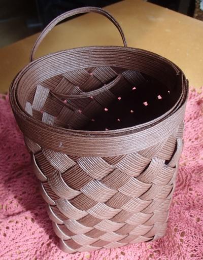 白樺編みの練習