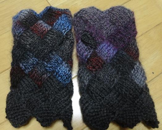 バスケット編みのアームカバー