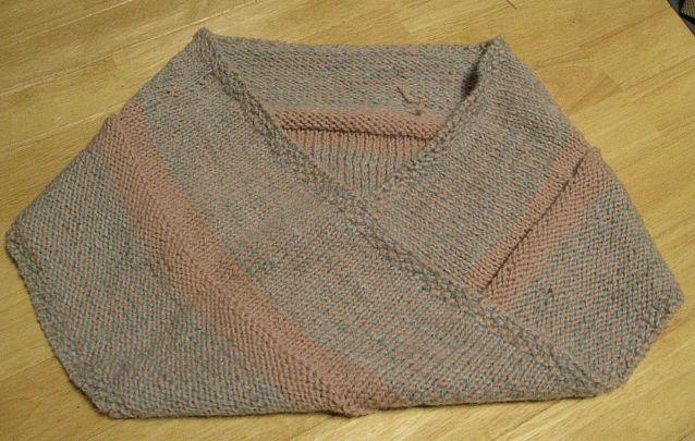 メビウス編みのショール