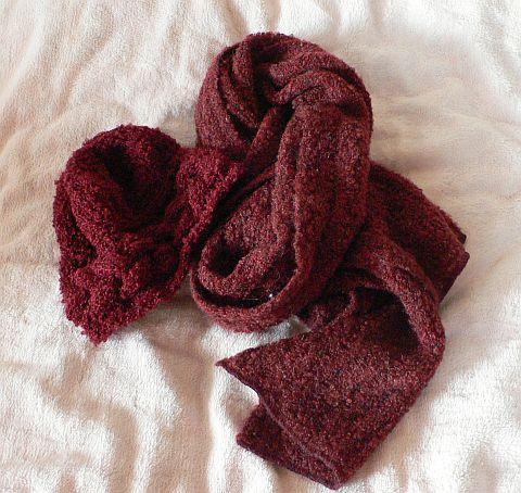 縄編みの帽子