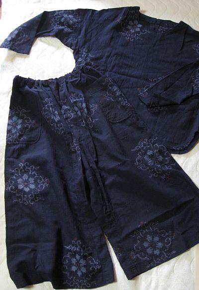 着物リメイク Tシャツ&キュロット