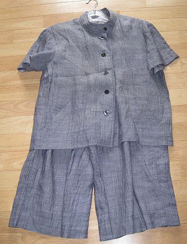 着物リメイク キュロットスーツ